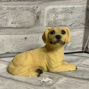 Yellow Labrador Lab Dog Figurine